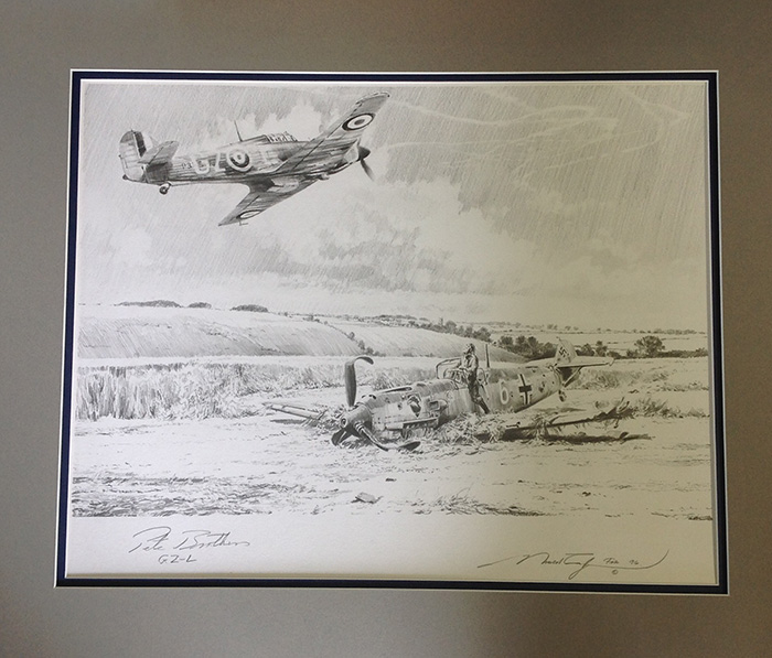 Hurricane Victory (Pencil Drawing) by Robert Taylor