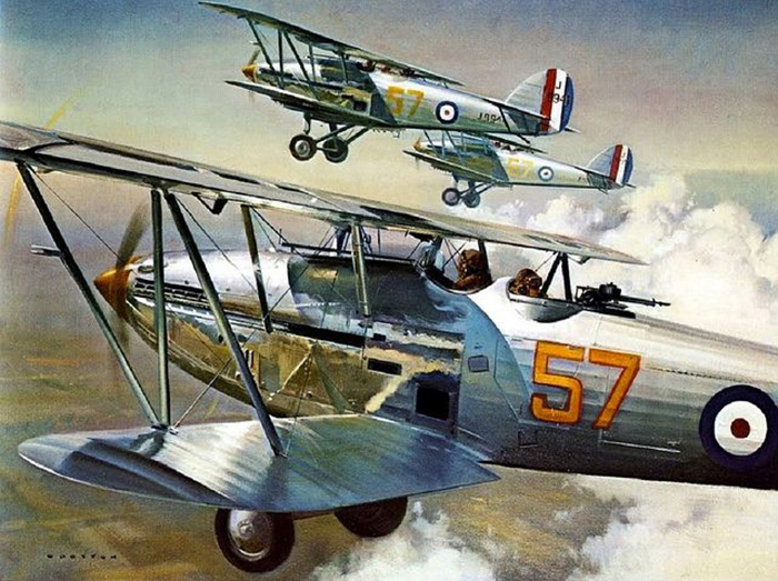 Hawker Harts by Frank Wootton