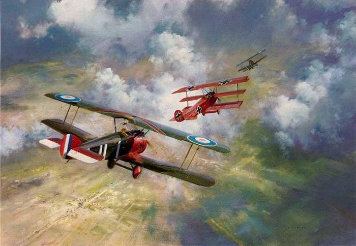 Last Combat of the Red Baron by Frank Wootton