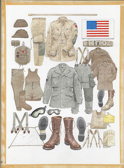 Osprey Warrior US Paratrooper 1941-1945 uniform and clothing